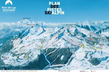 plan des pistes ski Alpin